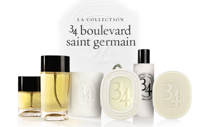 L eau du trente quatre de diptyque beautyvanity for 34 boulevard saint germain paris