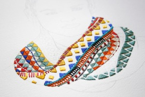 Izziyana Suhaimi embroidery